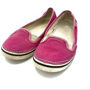 Crocs hover slip on pink size 8